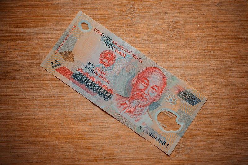 Банкнота достоинством ₫ 200 000
