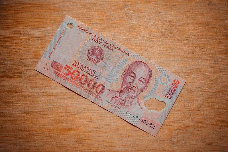 Банкнота достоинством ₫ 50 000