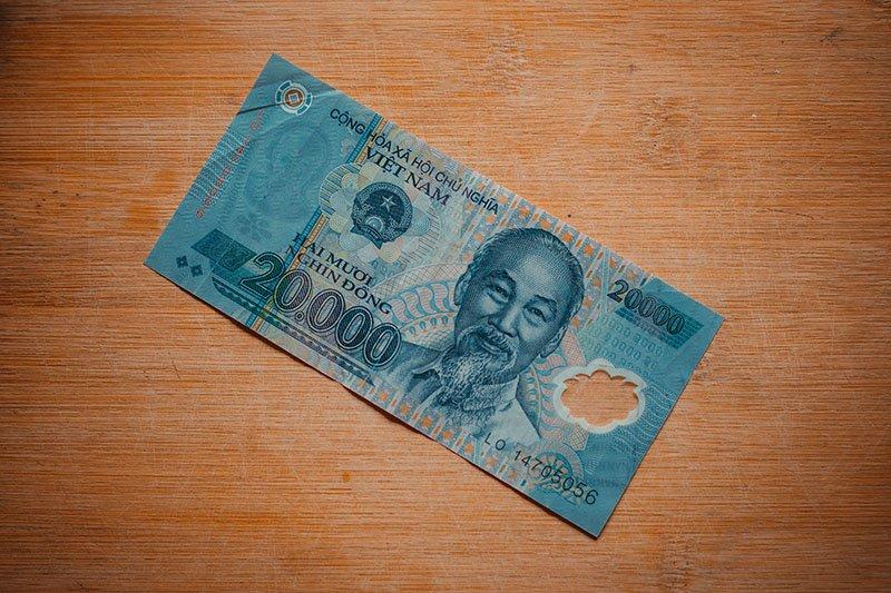Банкнота достоинством ₫ 20 000