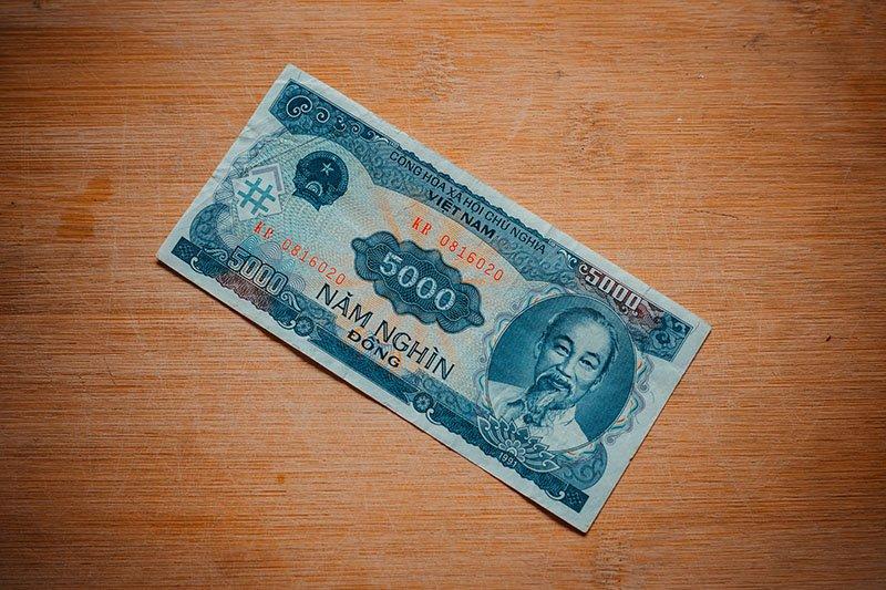 Банкнота достоинством ₫ 5000