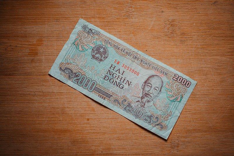 Банкнота достоинством ₫ 2000