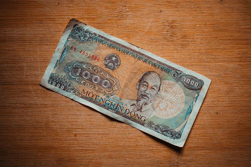 Банкнота достоинством ₫ 1000