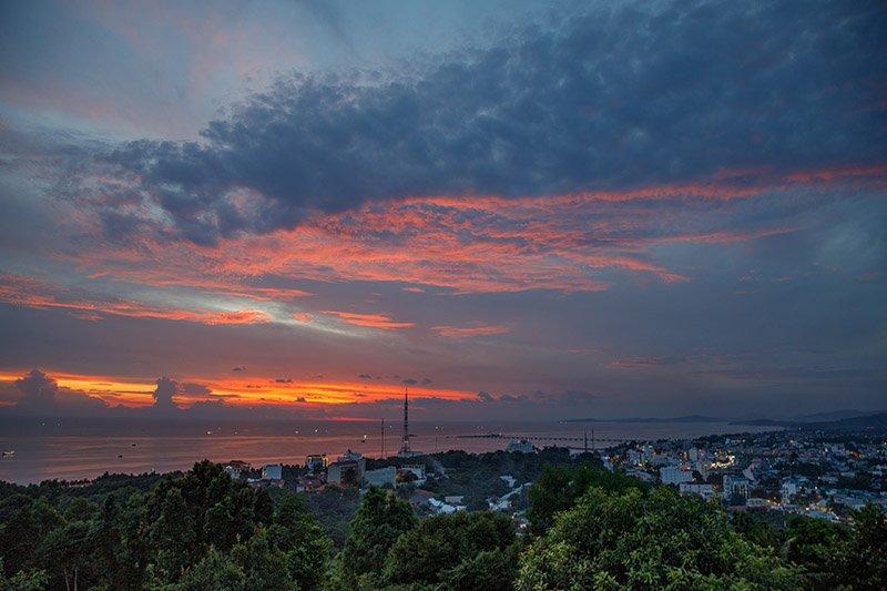 Вид на побережье Фукуока