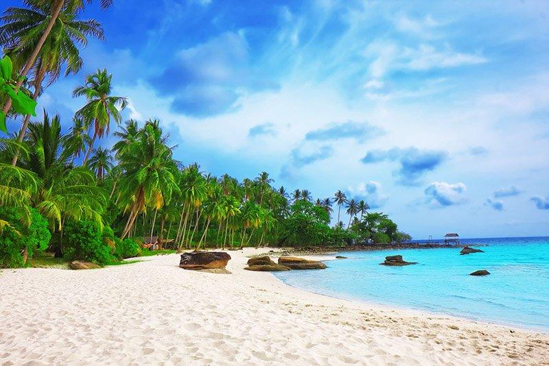 Пляж на южном острове Фукока